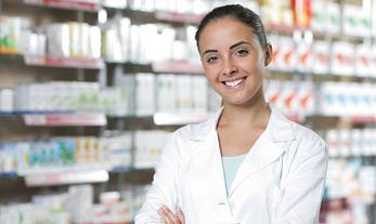 Pharmacy technician woman