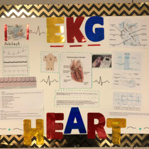 EKG Chart done by a student