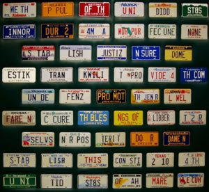 Constitution day license plates