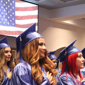 Great moment at graduation