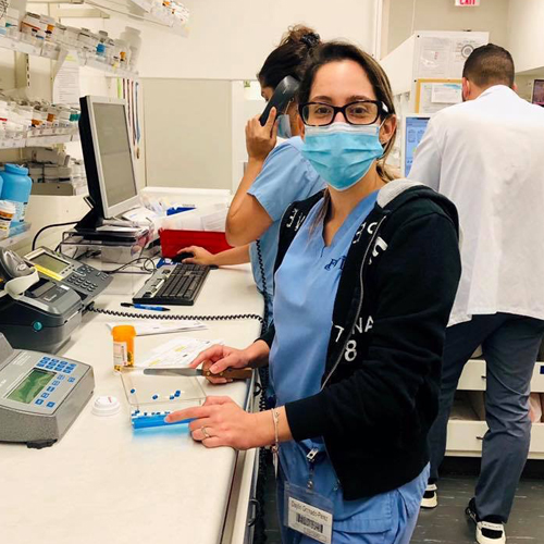 Pharmacy Technician Working